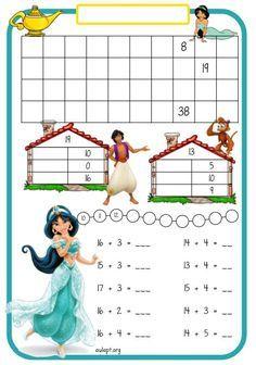 Refuerzo de mates para 1º de Primaria con Jazmine. Montessori Math, Preschool Curriculum, Preschool Worksheets, Math Classroom, Kindergarten Math, Teaching Math, Math Activities, Preschool Activities, Mental Maths Worksheets