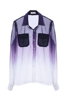 Dip Dye Sheer Shirt  $37.90  fans love and come back:)  #romwe