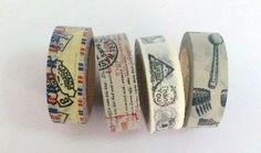 Craft adhesive tape- 4 Rolls Japanese Washi Tape Masking Tape decoration Tape