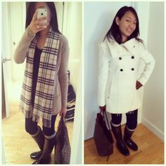 Outfits to dress up hunter boots