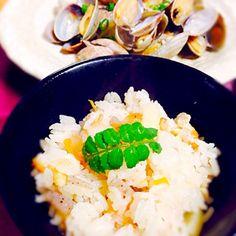 頂き物で…٩꒰ಂ❛ ▿❛ಂ꒱۶♡ - 32件のもぐもぐ - 筍ご飯♪ アサリの酒蒸し꒰ ♡´∀`♡ ꒱ by gonzabu