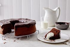 Flourless chocolate nut cake from Sift Magazine