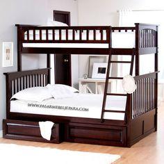 Tempat Tidur Tingkat anak Kayu Jati