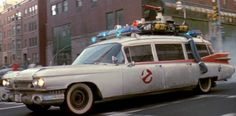 "Nicknamed ""Ecto-1"", the white endloading modified ambulance/hearse [an efficient albeit morbid combination] ferried around the four ghost-exterminators, Egon [Harold Ramis], Ray [Dan Aykroyd], Peter [Bill Murray], and Winston [Ernie Hudson] who were apparently either saving New York from paranormal warfare, or battling a pretty epic war on hallucinogens."
