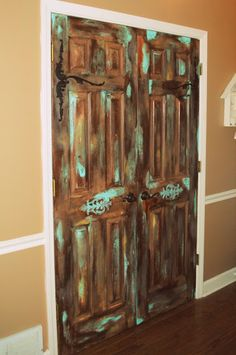 Amazing Grays: Pantry Part Two: Antiqued Pantry Doors