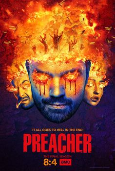 - Dominic Cooper Preacher TV Poster 24x36 Ruth Negga Joseph Gilgun