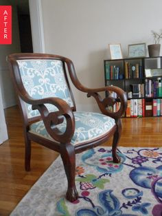 Before & After: 1940s Family Chair Gets Rescued | Apartment Therapy