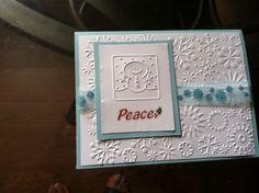 Handmade Blank-Boxed Peace Christmas Card ( 8 Cards and Envelopes) #Handmade #Christmas