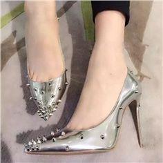 Shoespie Rivet Pointed toe Stiletto Heels