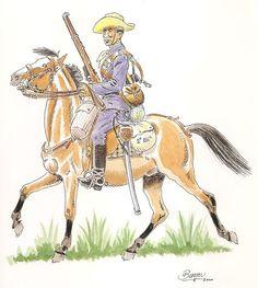 Soldado del Regimiento de Cazadores de Treviño Nº 26 1895-98 Cuba