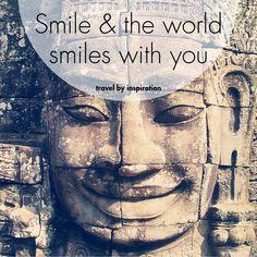 #Smile & the #world smiles with you! #happy #day #enjoy #life #reisen #urlaub #justaway #justawaycom