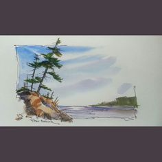 Latest video posted on YouTube. A Northern Lake. Link to my YouTube Channel is in my bio or Cut and Paste:        https://m.youtube.com/c/petersheelerart  #Video #youtube #youtubers #landscape #art #original #watercolor #winsorandnewton #watercolour #painting #paintingaday #penandink #waterbrush #urbansketch #urbansketchers #urbansketcher #architecture #ink #moleskine_arts #canada #ImagesofCanada