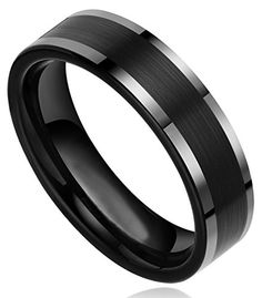 6mm Black Tungsten Carbide with Flat Top Brushed Center Wedding Bands Rings for Men Women Comfort Fit(size 4.5 to 11) (9.5) TIGRADE http://www.amazon.com/dp/B00DAMNG3I/ref=cm_sw_r_pi_dp_jIxUvb0KP5D7C