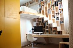 Une bibliothèque comme mur porteur