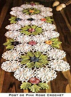 Table runner from Pink Rose Crochet ~ Pamela  #crochet #ganchillo #inspiration