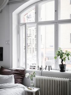 my scandinavian home: A Small Swedish Space That Will Make You Want to Downsize! #bedroom #studio #windowsill #scandinavionhome