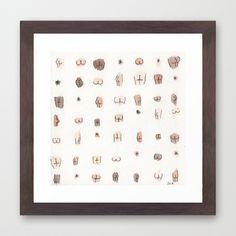 butts Framed Art Print - bathroom prints, above the toilet 2/2