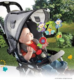 Warmer weather will mean more time spent outside! Bring playtime wherever you and baby go, with the overhead Stroller Activity Pals. #BabyGear #Toys #Playtime