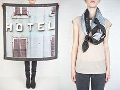 philip rouchou polaroid scarf