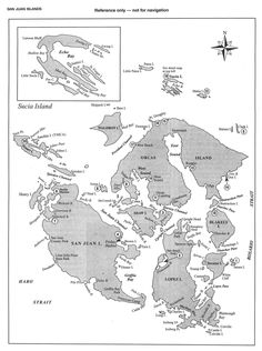 A reference chart of the San Juans.