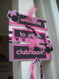 Minnie Mouse Birthday Sign by PracticePaperPerfect on Etsy, $20.00
