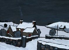 David BARNES - Farm near Ruthin - Winter landscape art and paintings by British artists at www.redraggallery.co.uk