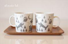 minne(ミンネ)  森の動物マグカップ
