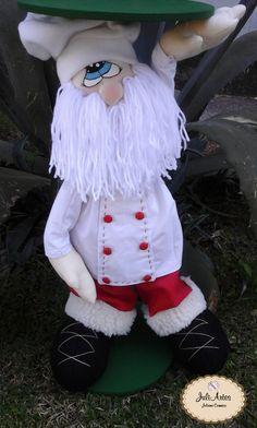 Papai Noel suporte para panetone com 50 cm de altura