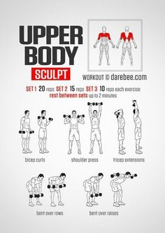 Upper Body Sculpt Workout   Posted By: CustomWeightLossProgram.com