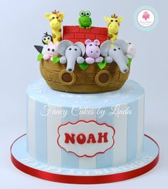 Kids Cakes Noah's Ark cake with Giraffes by Fancy Cake By Linda! Noahs Ark Cake, Noahs Ark Party, 1st Birthday Cakes, Birthday Cake Toppers, Jungle Theme Cakes, Cake Pictures, Occasion Cakes, Fancy Cakes, Love Cake