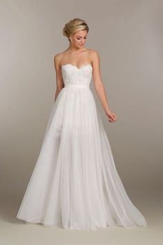 Tara Keely strapless wedding dress