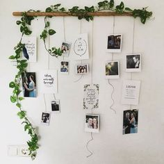 I really want to make this in my new room!- Ik wil dit heel graag maken in mijn nieuwe kamer! Dit ziet er super leuk uit:) I really want to make this in my new room! This looks super nice :] - Decoration Photo, Decoration Bedroom, Decor Room, Diy Wall Decor For Bedroom, Photo Decoration On Wall, Travel Room Decor, Floral Bedroom Decor, Polaroid Decoration, Art Decor