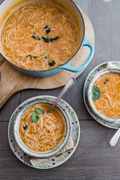 Sopa de Fideo. This one-pot pasta dish is the classic Mexican spaghetti you probably grew up eating and can be made in 20 minutes. Sopa de fideo is an incredibly simple yet flavorful soup made with a tomato-based broth and toasted vermicelli noodles. Its simple and comforting but also because of the warm, fuzzy nostalgic feelings it brings!