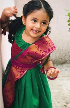 Baby Dress Design, Frock Design, Baby Lehenga, Saree Gown, Kids Frocks Design, Baby Girl Dress Patterns, Cute Baby Pictures, Beautiful Children, Clothes For Women
