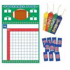 Football Squares  Printable Grid Template Office Pool  Football