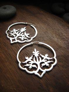Träumen im Hindi Ohrringe handgefertigten floral von AThousandJoys