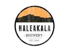 Haleakala Brewery Logo designed by Jeanée Vilja. Graphic Design Branding, Logo Design, Hawaii Logo, Brewery Logos, Outdoor Logos, Beach Logo, Logo Creation, Badge Logo, Badge Design