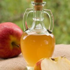 To clear up dandruff, shampoo then pour a cup of apple cider vinegar on your head and rinse with water.