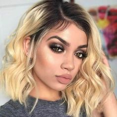 Brown Ombre Hair, Ombre Hair Color, Blonde Ombre, Blonde Wig, Blonde Color, Blonde Weave, White Ombre, Bleach Blonde, Brunette Hair