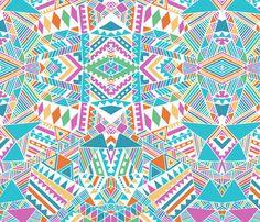 Tribal beats mirror  fabric by chulabird on Spoonflower - custom fabric