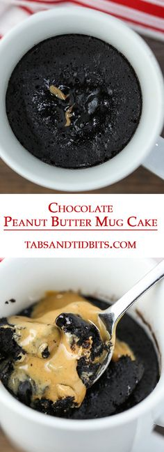 This Chocolate Peanut Butter Mug Cake is a sweet and satisfying quick dessert that is moist, delicate, and full of gooey deliciousness!