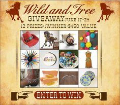 Wild and Free Giveaway -12 Prizes $450 Value - My Wonderful Walls