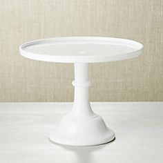 "$59 10"" diam x 8"" tall. CrateandBarrel.  View larger image of Mosser Milk 10"" Cake Stand"