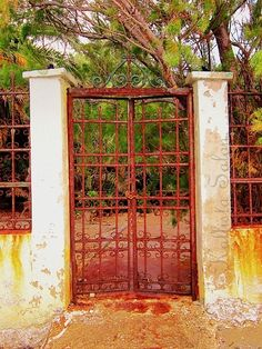 Rusty Gate Old Iron Door Photograph Urban Decay by KallistaSalon, $28.00