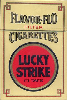cigarette brands from the 70s | Flyer Goodness: Vintage Lucky Strike Cigarette Packaging