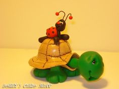 Tubby Turtle Pen  Polymer Clay Figurine by bettyscutiestuff, $25.00
