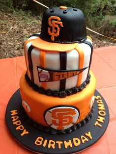 Miraculous 8 Best Sf Giants Cake Ideas Images Giant Cake Cake Baseball Personalised Birthday Cards Cominlily Jamesorg