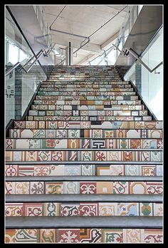 Gorgeous tiled (or painted?) stairs