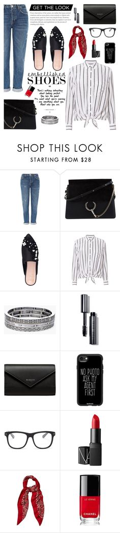 """""""Get The Look: Embellished Shoe"""" by glamorous09 ❤ liked on Polyvore featuring Topshop, Chloé, KG Kurt Geiger, Equipment, Chico's, Bobbi Brown Cosmetics, Balenciaga, Casetify, STELLA McCARTNEY and NARS Cosmetics"""