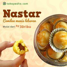 Lebaran kurang lengkap tanpa kue kering seperti Nastar. Yuk beli Nastar di Tokopedia. Semuanya lengkap ada di sini.  Harga Nastarnya terjangkau banget lho, mulai dari Rp 30.000,- saja. Mau? Beli di http://www.tokopedia.com/hot/nastar